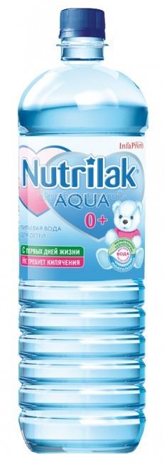 Вода Nutrilak AQUA Вода детская питьевая с 0 мес., 1.5 л вода bebi вода детская питьевая с 0 мес 1 л