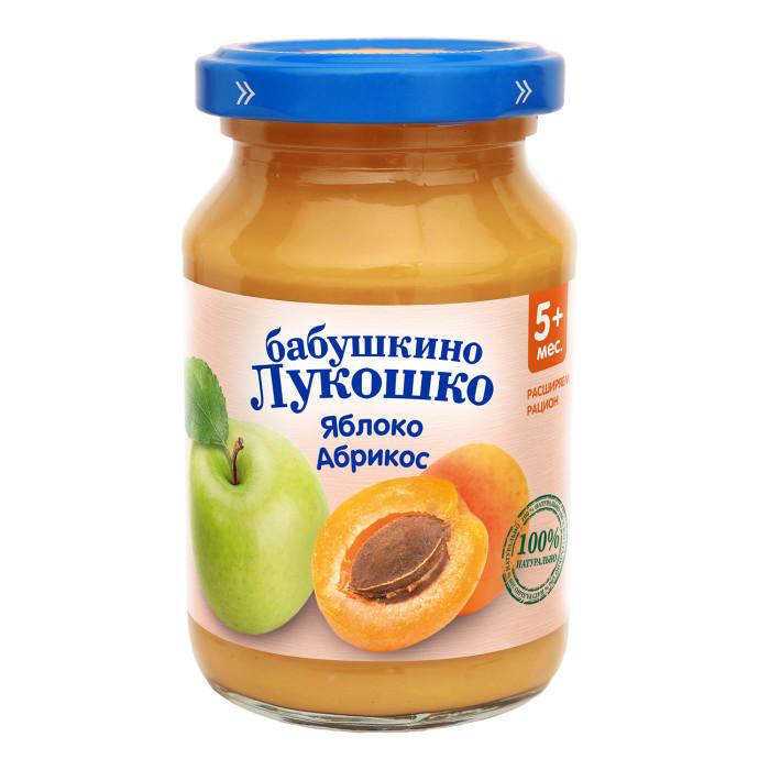 Пюре Бабушкино лукошко Пюре Яблоко, абрикос с 5 мес., 200 г пюре бабушкино лукошко кабачок яблоко с 5 мес 100 г