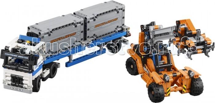 Конструктор Lego Technic Контейнерный терминалTechnic Контейнерный терминалКонструктор Lego Technic Контейнерный терминал дает ребенку возможность примерить на себя роль настоящего инженера-конструктора.  Особенности: Детали данного конструктора изготовлены из пластика и окрашены в приятные цвета.  С таким набором малыш сможет собрать сразу несколько различных видов техники. Данный комплект включает в себя 631 деталь конструктора, а также инструкцию по сборке небольшого контейнерного терминала.  Получившиеся модели могут стать полноценными игрушками, ведь все элементы набора выполнены довольно детально. Набор Lego Technic совместим с другими наборами этой же серии.  Подробная инструкция, входящая в комплект, позволит ребенку собирать конструктор, как в присутствии взрослого, так и самостоятельно.  Конструкторы Lego не только развлекут девочку, но и позволят ей усовершенствовать мелкую моторику, развить воображение и творческую фантазию.   Все детали конструктора изготовлены из безопасного и качественного материала, при производстве используется многоступенчатая система контроля качества.  Длина фургона: 30.5 см<br>