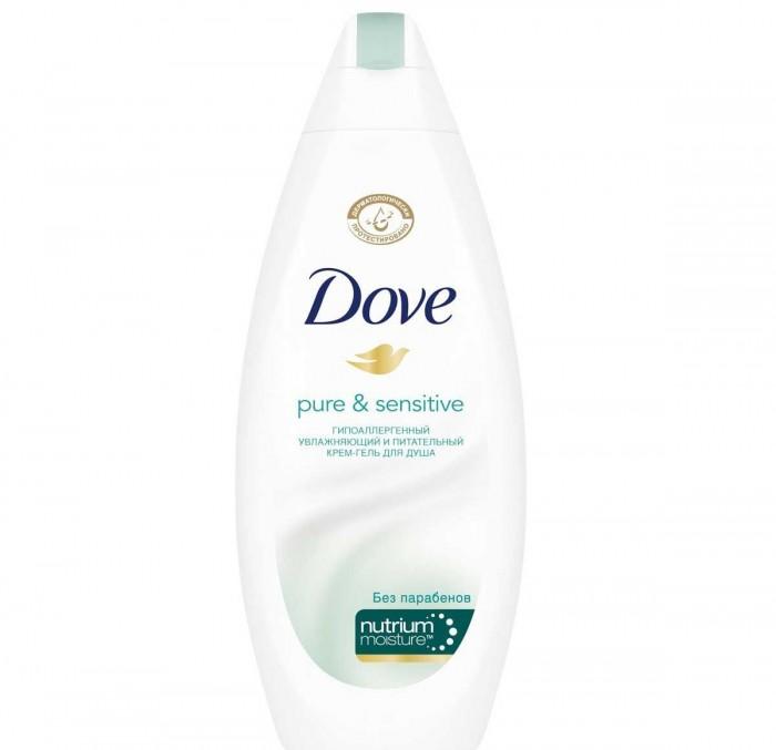 Косметика для мамы Dove Крем-гель для душа для чувствительной кожи Гипоаллергенный 250 мл крем гель для душа в капсулах лагуна