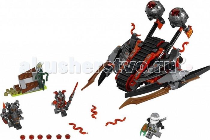 Конструктор Lego Ninjago Алый захватчикNinjago Алый захватчикКонструктор Lego Ninjago Алый захватчик состоит из 313 деталей, среди которых имеются элементы для постройки катапульты, снаряды, три небольшие фигурки, несколько змей, игрушечное оружие и клинок, останавливающий время.  Особенности: Ребенку предстоит собственноручно собрать Алого захватчика, которым управляют два злодея - Раггмунк и Слекджо. Им противостоит Зейн - ниндзя льда. Мальчик сможет помочь Зейну сражаться против злодеев, уворачиваться от выстрелов из катапульты, а также защищать клинок, останавливающий время, от попадания в руки врага. Набор Lego Ninjago совместим с другими наборами этой же серии.  Подробная инструкция, входящая в комплект, позволит ребенку собирать конструктор, как в присутствии взрослого, так и самостоятельно.  Конструкторы Lego не только развлекут девочку, но и позволят ей усовершенствовать мелкую моторику, развить воображение и творческую фантазию.   Все детали конструктора изготовлены из безопасного и качественного материала, при производстве используется многоступенчатая система контроля качества.  Размер катапульты Вермилиона: 22 x 19 x 13 см. Размер барьера: 5 x 7 x 3 см<br>
