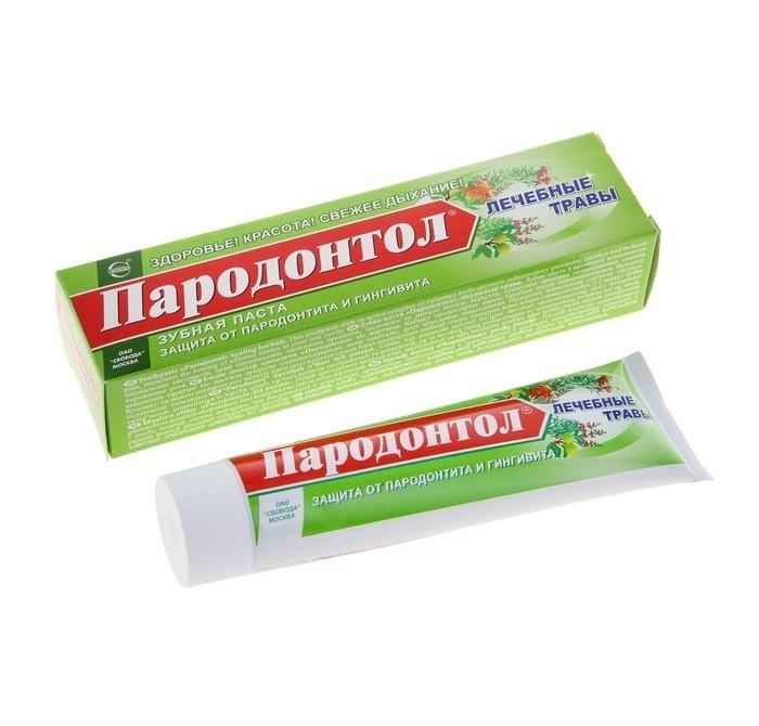 зубная паста пародонтол антибактериальная защита 124 г Гигиена полости рта Пародонтол Зубная паста Лечебные травы 124 г
