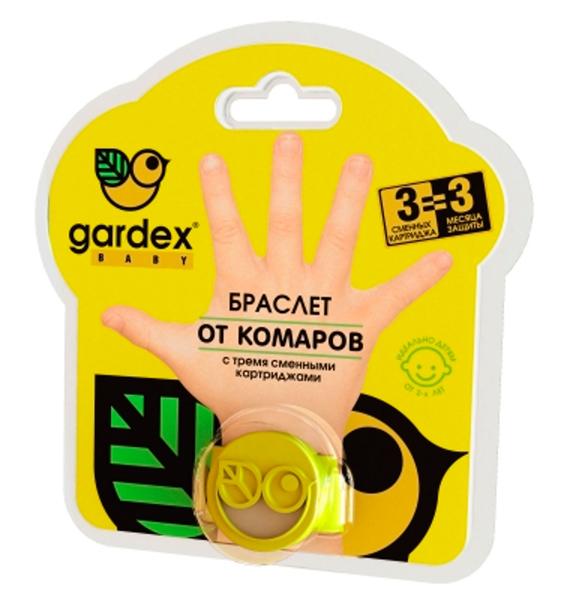 средства от насекомых Средства от насекомых Gardex Baby Браслет от комаров с картриджами с 2 лет