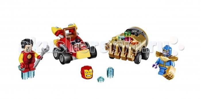 Lego Lego Super Heroes Mighty Micro Железный человек против Таноса конструктор lego marvel super heroes подводная атака железного черепа 76048