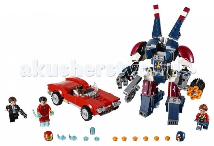 Конструктор Lego Super Heroes Железный человек Стальной Детройт наносит удаSuper Heroes Железный человек Стальной Детройт наносит удаКонструктор Lego Super Heroes Железный человек Стальной Детройт наносит удар освящен одному из самых популярных персонажей фантастической вселенной Marvel.  Особенности: Более чем из трехсот семидесяти разнообразных деталей можно собрать оригинальную конструкцию в виде стильного мощного робота со специальной кабиной для пилота. Им станет фигурка опасного злодея. Разрушительная машина дополнена множеством деталей и снабжена специальным оружием. Вторым действующим лицом игры станет сам Железный человек. Игрушка, выполненная в виде этого героя, оснащена съемной маской и другими оригинальными аксессуарами, способными отлично дополнить его образ. Третьей фигуркой комплекта является агент Колсон. Он представлен в образе преуспевающего бизнесмена, одетого в деловой костюм с галстуком. Старку принадлежит стильная модель автомобиля, лишенная верха, которая является еще одной сборной конструкцией набора. Ее корпус окрашен в ярко-красный цвет, способный привлечь еще больше внимания со стороны ребенка. Набор Lego Super Heroes совместим с другими наборами этой же серии.  Подробная инструкция, входящая в комплект, позволит ребенку собирать конструктор, как в присутствии взрослого, так и самостоятельно.  Конструкторы Lego не только развлекут девочку, но и позволят ей усовершенствовать мелкую моторику, развить воображение и творческую фантазию.   Все детали конструктора изготовлены из безопасного и качественного материала, при производстве используется многоступенчатая система контроля качества.  Высота стального Детроита: 14 см. Размер автомобиля Лола: 4 х 14 х 6 см<br>