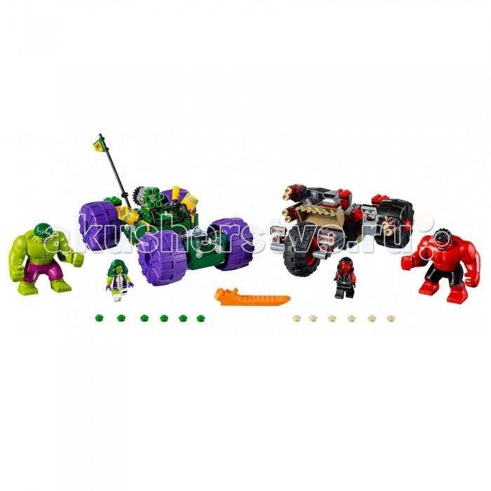 Конструктор Lego Super Heroes Халк против Красного ХалкаSuper Heroes Халк против Красного ХалкаКонструктор Lego Super Heroes Халк против Красного Халка позволит ребенку разыграть невероятно захватывающую сценку, в которой зеленый Халк столкнется в непримиримом сражении с грозным красным Халком. Для каждого из Халков юных поклонник вселенной Марвел должен будет самостоятельно соорудить мощные транспортные средства, на которых главные герои и отправятся на эффектную битву.  Особенности: В комплекте набора также прилагаются игровые фигурки женщины-Халка и красной женщины-Халка, чтобы сделать игровой процесс еще увлекательнее и атмосфернее.  Набор Lego Super Heroes совместим с другими наборами этой же серии.  Подробная инструкция, входящая в комплект, позволит ребенку собирать конструктор, как в присутствии взрослого, так и самостоятельно.  Конструкторы Lego не только развлекут девочку, но и позволят ей усовершенствовать мелкую моторику, развить воображение и творческую фантазию.   Все детали конструктора изготовлены из безопасного и качественного материала, при производстве используется многоступенчатая система контроля качества.  Размер машины Халка: 14 х 19 х 11 см. Размер машины Красного Халка: 7 х 19 х 14 см.<br>