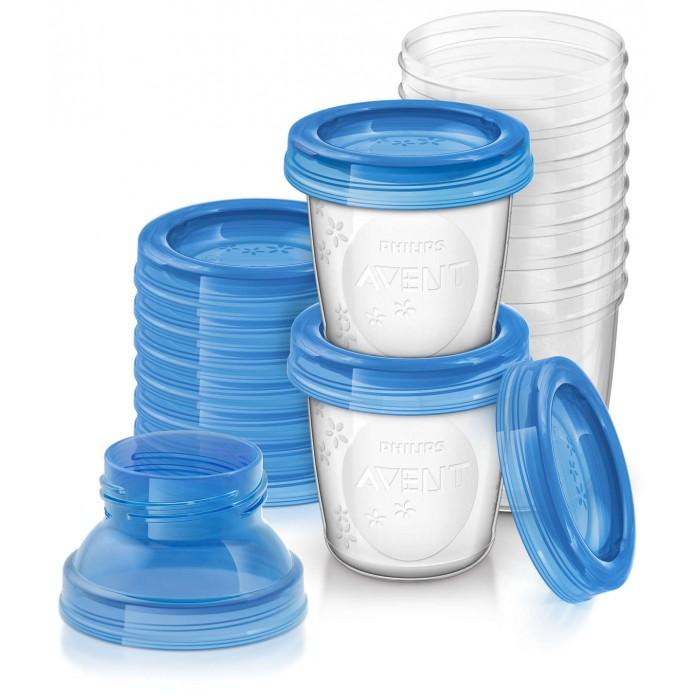 Philips Avent Набор контейнеров для хранения грудного молока 180 мл, 10 шт. SCF618/10
