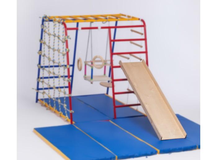 SportsWill Горка для Спортивного комплекса Baby HitГорка для Спортивного комплекса Baby HitSportsWill Горка для Спортивного комплекса Baby Hit  Горка предназначена для выполнения упражнений на спорткомплексах Baby Hit, а также других ДСК. В раннем возрасте (практически с рождения) используется как трек для обучения ребенка ползанию.  Примерно с 5-6 мес., научившись ползать, ребенок учится с помощью наклонной горки удерживать равновесие и поднимать ручки на перекладины спорткомплекса. Следующим этапом использования горки как спортивного аксессуара является подъем на наклонной поверхности с опорой на перекладины каркаса комплекса. Примерно с года ребенок свободно занимается на горке, используя её как дополнительную перекладину к спорткомплексу.  С рождения горка может использоваться и без каркаса спорткомплекса - только как трек!  Размеры: 130 х 40 см.<br>