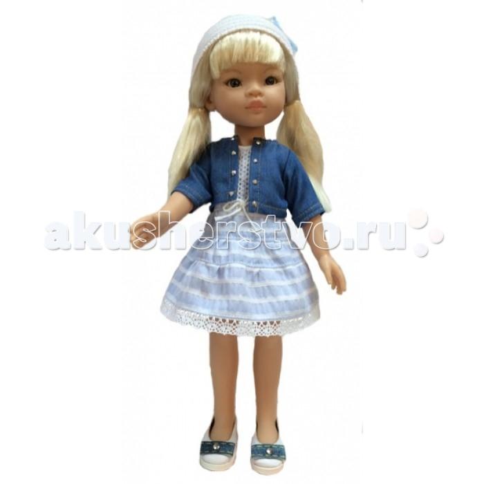 Paola Reina Кукла Маника 32 см 04406Кукла Маника 32 см 04406Paola Reina Кукла Маника 32 см - это та игрушка, о которой мечтает каждая девочка. Продуманный до мелочей образ куклы не оставит вашу маленькую принцессу равнодушной.  Добрый, слегка наивный детский взгляд и легкий румянец на щечках, курносый носик и аккуратные губки – Маника завораживает. Все детали одежды и аксессуары можно снимать. У Маника густые волосы, которые не запутываются, и ваша дочурка с легкостью может расчесывать куклу, мыть ей голову, при этом волосы совсем не портятся и не выпадают так, как они прошиты прочно и надежно.  Куклы Paola Reina имеют высокие показатели качества своей продукции с соблюдением всех норм по безопасности материалов. Все куклы и пупсы сделаны из высококачественного винила без эфирных соединений. Это подтверждено нормами безопасности EN17 ЕЭС.  Особенности: кукла имеет нежный ванильный аромат уникальный и неповторимый дизайн лица и тела ручная работа: ресницы, веснушки, щечки, губы, прическа  волосы легко расчесываются и блестят глазки не закрываются ручки, ножки и голова поворачиваются<br>