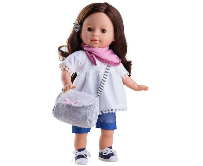 Paola Reina Кукла Вирджи 36 смКукла Вирджи 36 смPaola Reina Кукла Вирджи 36 см - эта милая кукла с мягконабивным телом, имеет нежный ванильный аромат, одета в модную яркую одежду с аксессуарами. Голова, ножки и ручки куклы сделаны из винила, а тельце – мягкое, набивка – полиэстер. У куклы выразительная мимика, уникальный и неповторимый дизайн лица и тела.  Так как она мягкая, ее еще приятнее держать на ручках, а руки и ноги у нее двигаются свободно. У нее необычные темно глаза, длинные ресницы и длинные  волосы.  Куклы Paola Reina имеют высокие показатели качества своей продукции с соблюдением всех норм по безопасности материалов. Все куклы и пупсы сделаны из высококачественного винила без эфирных соединений. Это подтверждено нормами безопасности EN17 ЕЭС.<br>