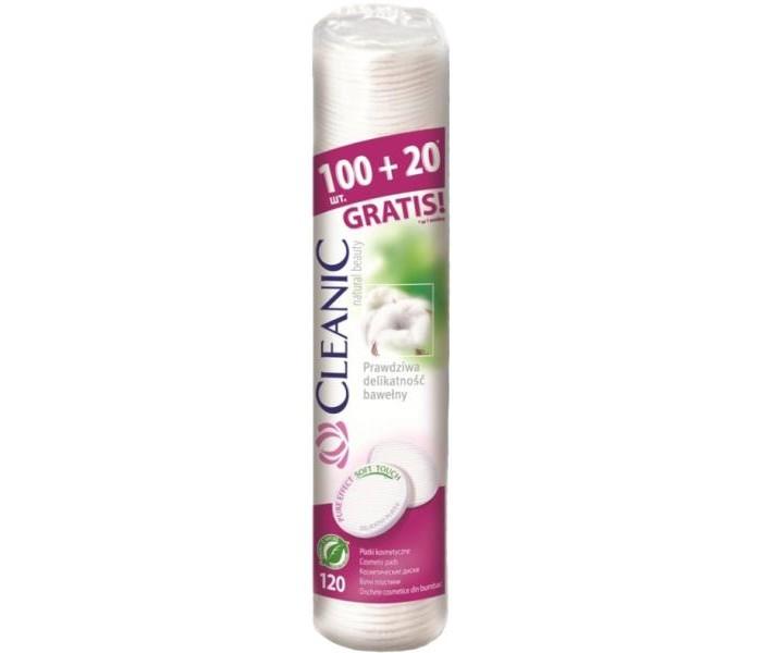 Гигиена для мамы Cleanic Ватные диски Pure Effect 100 шт. + 20 шт. гигиена для мамы lady cotton косметические ватные диски 140 шт