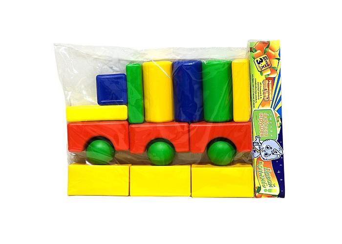 Развивающие игрушки Veld CO Трейлер кубики средний набор 16 элементов подарочные коробки veld co набор из 4 картонных коробок крафт растительный орнамент