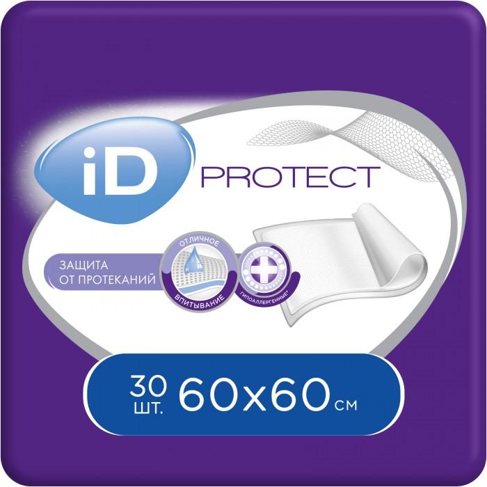 Одноразовые пеленки iD Пеленки одноразовые впитывающие 60x60 30 шт.