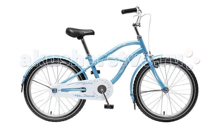 Велосипед двухколесный Novatrack Cruiser 20Cruiser 20Велосипед двухколесный Novatrack Cruiser 20 - надежный городской велосипед для детей от 5 лет. Модель выполнена в оригинальном дизайне и одинаково подойдет как мальчикам, так и девочкам. Велосипед предназначен для прогулок по паркам, улицам, а также для катания по пересеченной местности.  Особенности: сиденье и руль регулируются по высоте широкие надувные колеса удобные нескользящие ручки ручной тормоз звонок на руле светоотражатели Диаметр колес: 20<br>