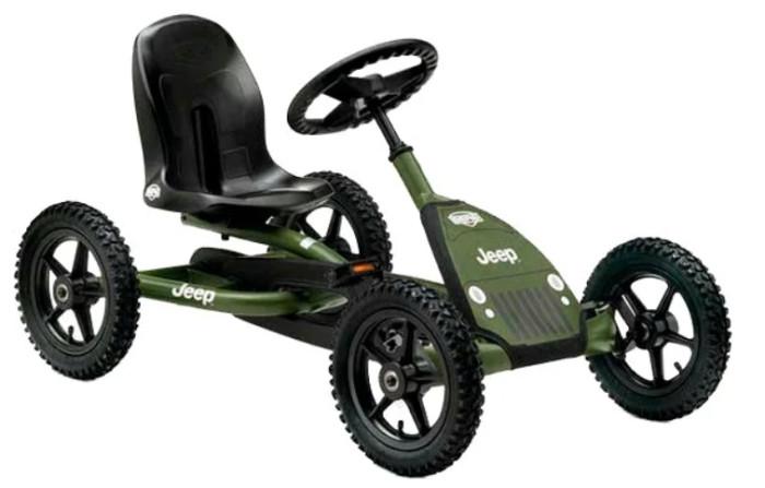 Berg Веломобиль Jeep JuniorВеломобиль Jeep JuniorBerg Веломобиль Jeep Junior способствует физическому развитию детей.   Компактный и легкий веломобиль способствует физическому развитию детей. Конструкция веломобиля позволяет легко установить в удобное положение сиденье на раме. Веломобиль имеет внедорожные шины, которые позволяют лучше удерживать сцепление с дорогой. Прочная и надежная рама гарантирует безопасность во время движения, будет хорошо препятствовать опрокидыванию.   Особенности: возраст: от 3-8 лет  основная рама: стальная труба привод: BFR (движение вперед и назад) тормоз: педальный подвеска: независимая сиденье: регулируемое по горизонтали рулевая колонка: регулируется по высоте  габариты, см: 115 х 65 х 63<br>