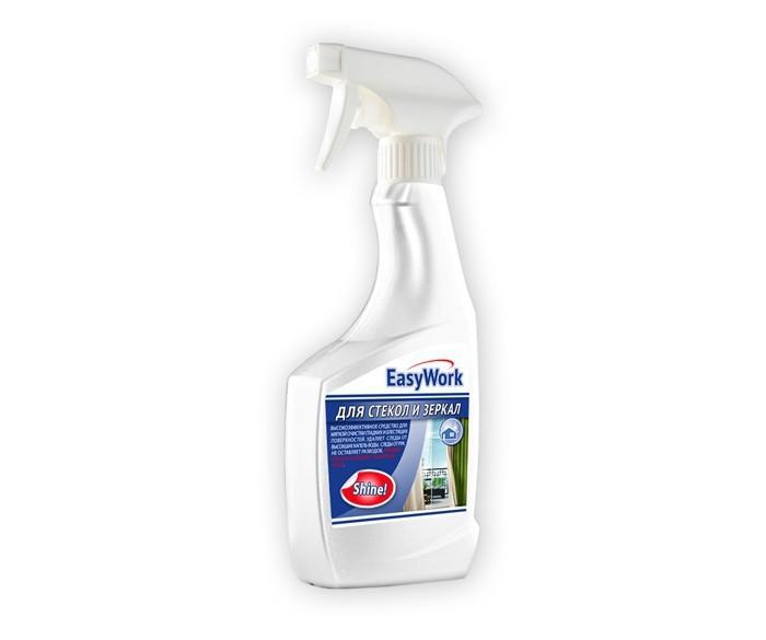Бытовая химия EasyWork Средство для мытья стекол спрей NEW 500 мл бытовая химия мистер чистер средство для мытья стекол и зеркал цитрус 500 мл