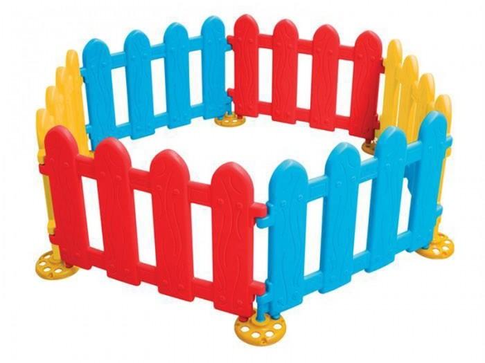 Pilsan Игровая ограда Funny Play AreaИгровая ограда Funny Play AreaPilsan Игровая ограда Funny Play Area. Детское ограждение  для детей от 1 года. 6 частей, 7 ножек. Возможно использовать как сухой бассейн для шариков. Легкий и простой монтаж. Возможность удлинять за счет дополнительных частей. Безопасное сырье и краска.<br>
