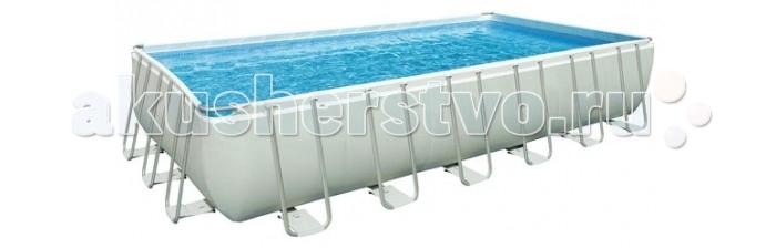 Бассейн Bestway Сборный каркасный 671х396х132 смСборный каркасный 671х396х132 смBestway Бассейн сборный каркасный 671х396х132 см  Сборный каркасный бассейн Bestway - один из самых больших бассейнов. Модель имеет прочную конструкцию из стали и жесткие борты.   В комплект входят:  насос-фильтр картриджный 220В для рециркуляции воды защитная подложка под бассейн защитное покрывало для бассейна лестница руководство по эксплуатации и DVD-диск с инструкциями по установке.    Защитное покрытие под бассейн предотвратит повреждение дна мелкими камушками, веточками и защитит от гниения. Выбирая место для установки большого каркасного бассейна следите за тем, чтобы в ближайших 3-4 метрах не было деревьев, иначе вода будет засорятся намного быстрее.  Форма: прямоугольный Размеры: 671 х 396 х 132 см Объем бассейна: 31600 л Производительность насоса: 5678 л/ч Вес: 173 кг Размер упаковки: 80 х 65 х 170 см Уборочный комплект: (телескопическая штанга на 254 см, поверхностный скимер, пылесос работающий от фильтрующего насоса, сачок<br>