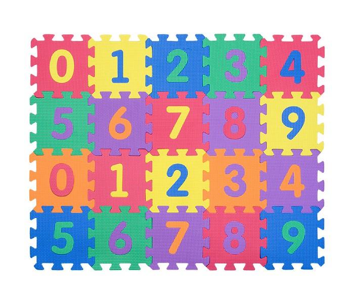 Игровые коврики FunKids пазл 6 с цифрами игровые коврики funkids пазл 6 символы 1