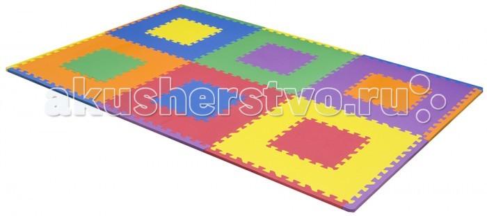 Игровой коврик FunKids 24 Мозаика-24, толщина 15мм KB-203-6-NT-MИгровые коврики<br>Funkids Игровой коврик-пазл 24 Мозаика 24  без изображений - это отличное дополнение для покрытия в детской комнате для игры и развития вашего ребенка. Яркий, красивый, разноцветный коврик-пазл помогает обучению цветам и арифметики. На нем можно ползать, прыгать, строить сооружения из плит, а собирая и разбирая элементы, ребенок развивает тактильные навыки и крупную моторику. Можно использовать самостоятельно, либо с другими наборами ковриков-пазлов FunKids серии NT. Легко застелить любую площадь и организовать для ребенка интересное, яркое, комфортное и безопасное пространство. Этот коврик-пазл совместим с любыми ковриками-пазлами FunKids серии NT в любых вариантах.  Коврик-пазл 15 мм толщиной. Набор из 6 квадратных плит разного цвета размера 24 (60 х 60 см) с внутренними плитами размера 12 (30 х 30 см). В качестве внутренних вкладышей можно использовать любые пазлы из наборов с размером 12 (30 х 30 см). Вынимая внутренние плиты и меняя их местами, можно создавать новые цветовые сочетания; Декоративные бордюры уже в комплекте.  Особенности: Образовательный - изучайте цвета и используйте плиты как конструктор Легко собирается - конфигурацию настила меняйте в зависимости от геометрии комнаты Мягкая рифленная поверхность - смягчает удары при падении и поглащает шум Безопасный - не содержит фталат, аммиак и ПВХ Удобный - легкий и компактный для хранения и транспортировки  Размер частей (плит): 60 см х 60 см х 1,5 см Площадь набора пазлов в собранном виде: 2,16 кв.м.  Состав: EVA foam (вспененный полиэтилен с добавлением этилвинилацетата) Твердость по Шор: 30-35 единиц - самый мягкий и качественный материал из существующих в производстве аналогичной продукции.  Серия NT art. KB-203-6-NT-M