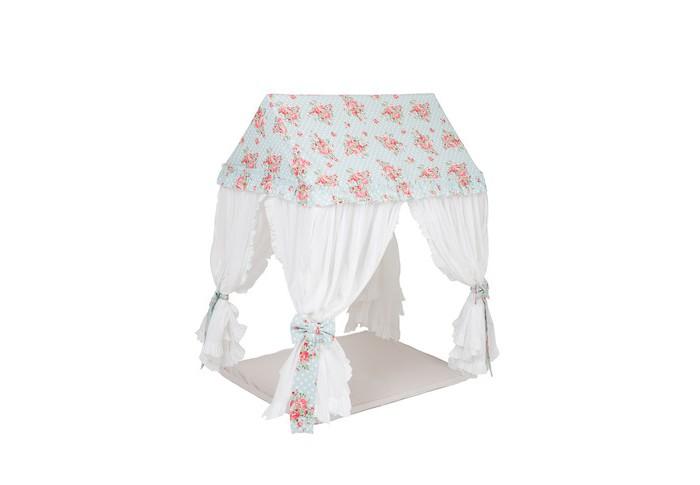 BabyDomiki Игровой домик-шатер Fairy Rose SmallИгровой домик-шатер Fairy Rose SmallBabyDomiki Игровой домик-шатер Fairy Rose Small в стиле Shabby chic станет романтичным украшением детской комнаты. Воздушный шатер выполнен в нежно-голубом цвете.   Игровой домик-шатер Fairy Rose представляет собой прочный деревянный каркас и плотный текстильный чехол, который можно постирать в стиральной машине. Каркас выполнен из деревянных палочек сибирской березы и пластиковых соединителей, не имеет опасных острых углов или мелких деталей слабой фиксации.   Домик устойчив и крайне прост в сборке. В разобранном виде домик достаточно компактный, поэтому его удобно хранить.  В комплекте: тканевый чехол каркас из массива сибирской березы с соединителям 4-е бантика- подхвата Чтобы сделать Домик-Шатер уникальным, его можно украсить различными аксессуарами, например, мягкими подушечками, гирляндой из флажков, сумочкой для игрушек и многим другим!   Габариты:100х75х115 см<br>