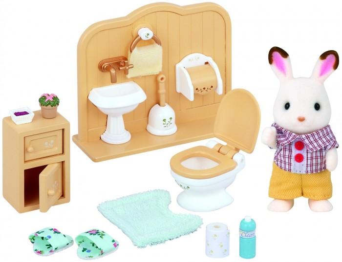 Игровые наборы Sylvanian Families Игровой набор Братик и туалетная комната игровой набор sylvanian families мама кролик и холодильник 2202