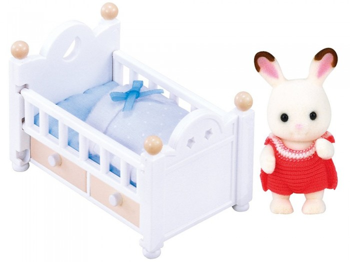 Игровые наборы Sylvanian Families Игровой набор Малыш и детская кроватка игровые наборы esschert design набор игровой kg118