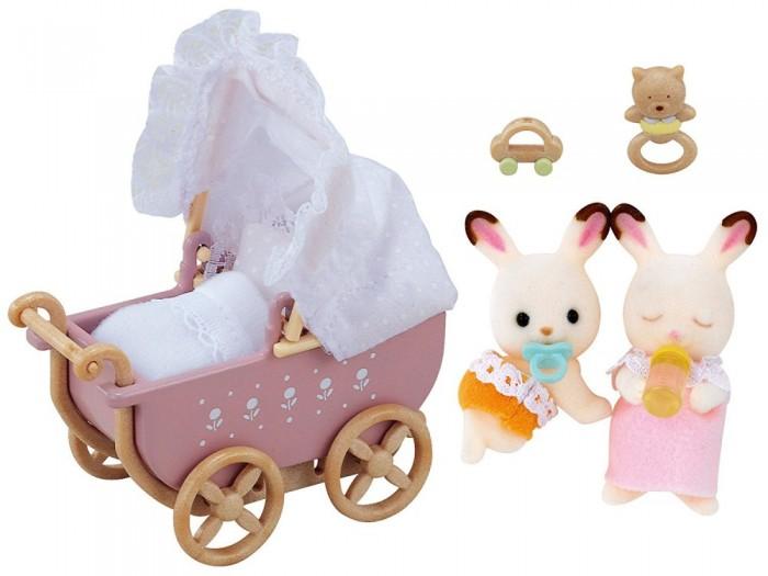 Игровые наборы Sylvanian Families Игровой набор Двойняшки в коляске игровая фигурка sylvanian families набор семья серых кроликов