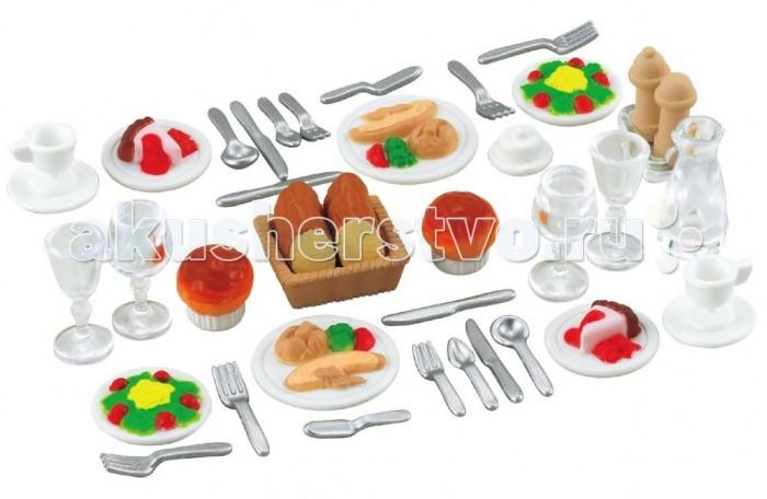 Кукольные домики и мебель Sylvanian Families Набор Ужин набор холодильник с продуктами sylvanian families