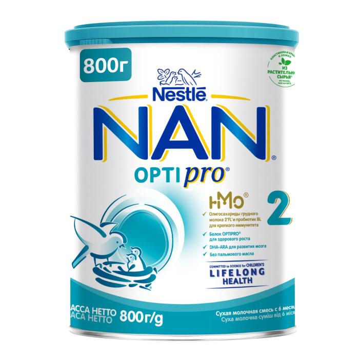 Молочные смеси NAN Заменитель Премиум 2 с 6 мес. 800 г молочные смеси nan заменитель кисломолочный 2 с 6 месяцев 400 г