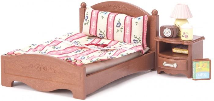 Кукольные домики и мебель Sylvanian Families Игровой набор Большая кровать и тумбочка