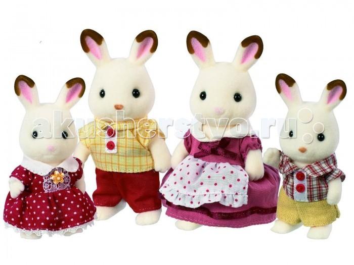 Игровые наборы Sylvanian Families Игровой набор Семья Шоколадных Кроликов игровая фигурка sylvanian families набор семья серых кроликов