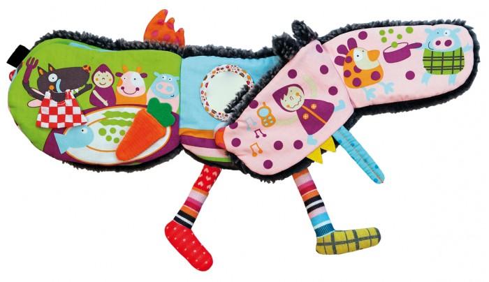 Книжки-игрушки Ebulobo Развивающая книжка История Волчонка каталки игрушки ebulobo мишка большая