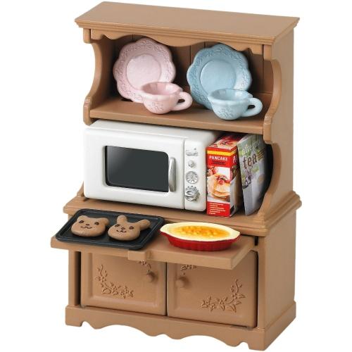 Кукольные домики и мебель Sylvanian Families Игровой набор Буфет с микроволновой печью