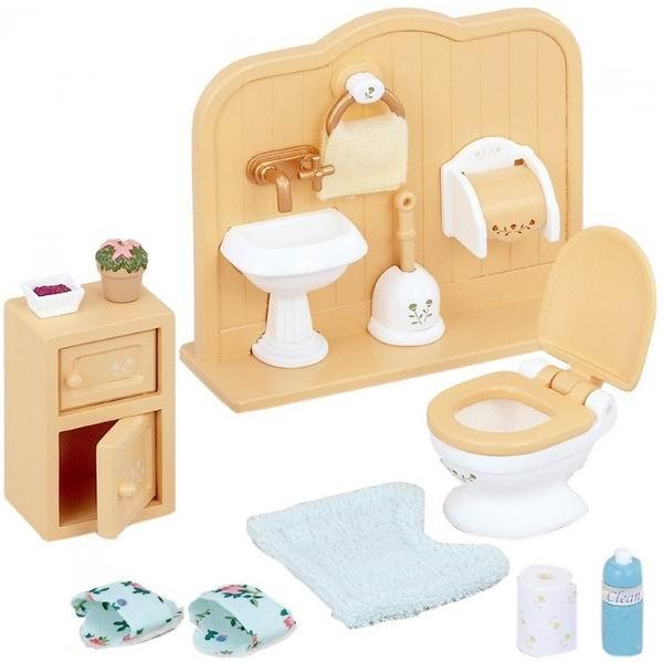 Кукольные домики и мебель Sylvanian Families Игровой набор Туалетная комната набор холодильник с продуктами sylvanian families
