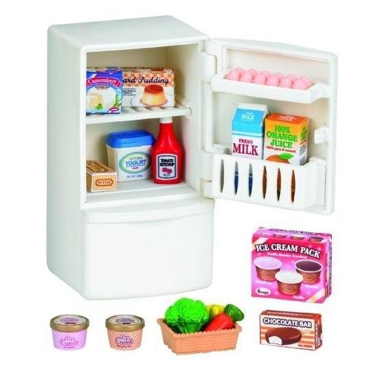 Кукольные домики и мебель Sylvanian Families Холодильник с продуктами sylvanian families игровой набор холодильник с продуктами