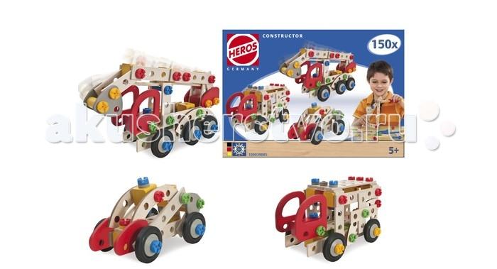 Конструктор Heros Пожарная машина 3 модели 155 деталейПожарная машина 3 модели 155 деталейSimba Пожарная машина, 3 модели 155 деталей игрушка не только увлекательна, но и очень полезна: она тренирует мелкую моторику, развивает ловкость и воображение, помогает ребенку научиться концентрации, внимательности и усидчивости. А если из деталей можно собрать не одну, а несколько конструкций – восторгу не будет предела!  Конструктор предполагает три варианта сборки: из него можно составить пожарный кран, скорую помощь и полицейскую машину. Запчасти выполнены из натуральной древесины бука. Они приятны на ощупь, безопасны в использовании и прочны.  Конструктор содержит 155 деталей. Обратите внимание! Возможно попадание мелких элементов в дыхательные пути ребенка. Рекомендуется использовать игрушку только под наблюдением взрослы<br>