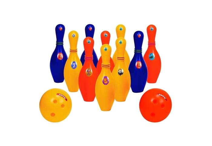 Спортивный инвентарь Edu-Play Набор для боулинга Зоопарк hasbro play doh игровой набор из 3 цветов цвета в ассортименте с 2 лет