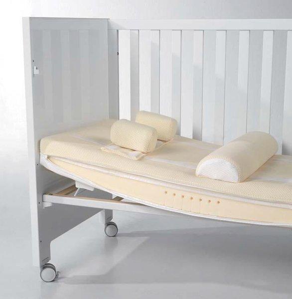 Матрас Micuna Seda Comfort 120x60Seda Comfort 120x60Матрас для новорождённых Micuna CH-1676 разработан совместно с компанией SEDA Confort специально для детских кроваток Micuna, оснащённых системой Relax. Благодаря полувалику и двум поддерживающим подушечкам матрас обеспечивает новорождённому крепкий, здоровый и безопасный сон. Для правильного использования матраса следует приподнять одну его сторону при помощи системы Relax, полувалик подложить под ножки, а голову малыша – между двумя маленькими подушками SEDA Confort.  Наполнитель матраса CMHR идеально подходит для детских кроваток. CMHR – высокоэластичная огнеупорная полиуретановая пена, надёжность которой одобрена независимыми экспертными организациями (в т.ч. международной организацией «FIRA International»). Благодаря своим свойствам, наполнитель из CMHR гарантирует длительное использование матраса и стойкость к разрывам. Чехол матраса съёмный и состоит из 3-х слоёв. Верхний слой – 100% хлопок, гипоаллергенный материал, не раздражающий даже самую нежную детскую кожу. Второй и третий слои – износостойкие нейлон и полиуретан.  Основные характеристики: рекомендуется использовать в кроватках с системой Relax чехол матраса съёмный, трёхслойный: первый слой – 100% хлопок, второй – нейлон, третий – полиуретан наполнитель: CMHR – высокоэластичный огнеупорный пенополиуретан использование всех элементов матраса позволяет малышу принять удобную позу без нагрузки на бёдра и позвоночник полувалик помогает держать ноги на высоте, способствует выделению газов маленькие подушки помогают сохранять позу, рекомендованную неонатологами и педиатрами матрас поддерживает голову в наклонном положении, открывает дыхательные пути, тем самым облегчая дыхание малыша приподнятые голова и ножки способствуют правильному кровообращению и снабжению тела кислородом  Размер (ДхВхШ): 117х57 см<br>