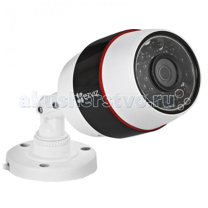 Ezviz Уличная IP-камера C3S PoE Full HDУличная IP-камера C3S PoE Full HDEzviz Уличная IP-камера C3S PoE Full HD обеспечивает качественную съемку вне помещения в любое время года. Благодаря специальному и удобному креплению может быть расположена в любых местах, подходящих пользователю.  Особенности: передает изображение и получает электропитание по Ethernet кабелю, используя при этом протокол PoE снимает видео с разрешением Full HD 1920&#215;1080 и HD1280&#215;720 объектив с фокусным расстоянием 4 мм предоставляет угол обзора 107.5° формат записи видео: H.264 улучшенное качество записи достигается путем применения различных современных функций автокоррекции. Среди них 3D-DNR фильтр, подавляющий шумы, управление электронным затвором и компенсация заднего света BLC и другие наличие детектора, который обнаруживает движение и запускает автоматическую запись на устройство встроен механический ИК-фильтр ИК-подсветка с довольно большой дальностью действия до 30 м полученное видео можно просматривать онлайн через специальное приложение для устройств iOS или Androind. В это же приложение приходит оповещение от камеры в случае возникновения тревожных событий простая настройка через облако EZVIZ  Технические характеристики: 1/2,7 Progressive Scan CMOS-матрица разрешение матрицы- 2.0 Мп объектив- 4мм чувствительность- 0,02 лк при открытой диафрагме F2.0  скорость записи составляет 25 к/с, а скорость механического затвора -1/30 с температурный режим- от &#8722;30°C до +60°C для питания необходим источник тока DC 12В ±10% Размеры: 176.3 x 83.5 x 69.8<br>