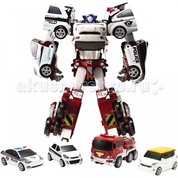 Tobot Робот-трансформер КватранРобот-трансформер КватранTobot Робот-трансформер Кватран поражает своим неординарным видом.   Игрушка состоит из 4 разных автомобилей, которые скрепляются между собой с помощью специальных элементов. Робот довольно легко трансформируется в мощного андроида и может двигать конечностями, имитируя ходьбу на 2 ногах, как человек.   Возраст: от 3 лет<br>