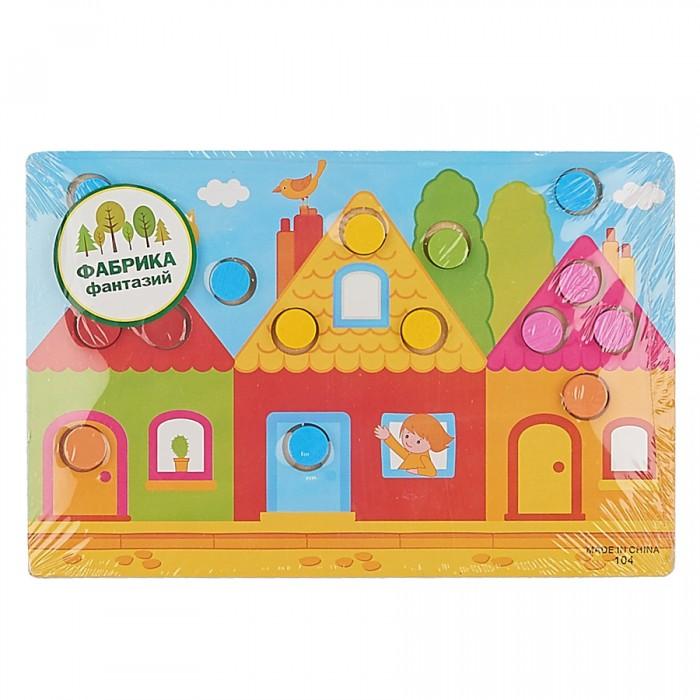 Деревянные игрушки Фабрика фантазий Рамка-вкладыш Учим цвета 41786