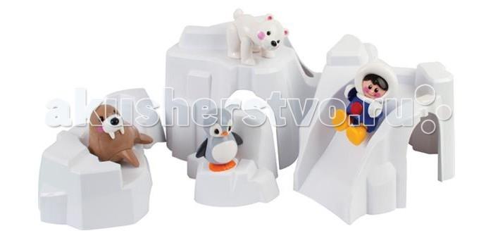 Tolo Toys Набор Полярные животныеНабор Полярные животныеЦентральная часть Полярной серии Первых друзей!   Состоит из четырех деталей, с которыми можно играть отдельно, а можно собрать их вместе и получится айсберг с туннелем!   В комплекте с айсбергом пингвин, тюлень, белый медведь и эскимос.   Дети могут построить целый Полярный мир вокруг айсберга и собрать полную коллекцию игрушек этой серии!   Стимулирует творческую игру.   Помогает развить ловкость и понимание.  При сгибании конечностей, а также при поворотах головы игрушки раздается легкий треск. Возможны различные положения, благодаря шарнирному телу.  Игрушки Tolo отличаются высоким качеством изготовления и повышенной прочностью<br>