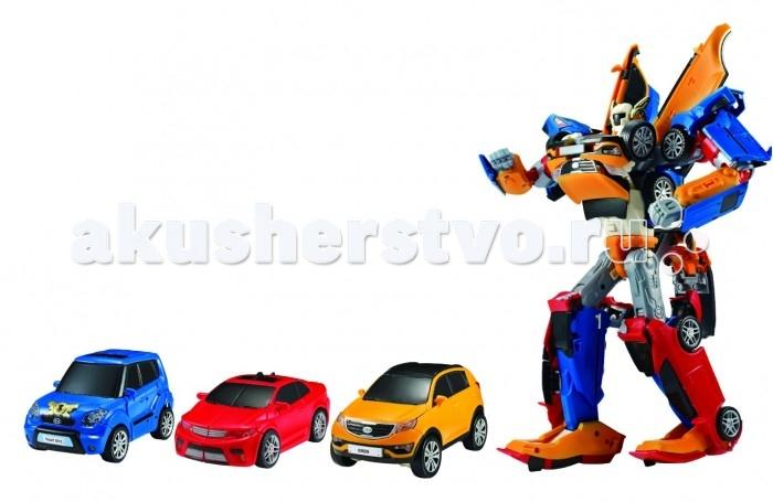 Tobot Робот-трансформер ТританРобот-трансформер ТританTobot Робот-трансформер Тритан состоит из трех разноцветных машинок: Tobot X, Tobot Y и Tobot Z.  Игрушка сделана по мотивам популярного корейского мультфильма Тобот. И название Тритан для него выбрано не случайно. Оно представляет собой комбинацию слов три и титан. Игрушку можно разбирать на отдельные машинки и собирать в робота по несколько раз. Для этого в комплекте предусмотрен гаечный ключ. По отдельности Tobot Y быстро гоняет, Тобот Z защищает детей от преступников, а тобот X обладает супер-силой и выносливостью. Все вместе они наделяют робота Тритана своими лучшими качествами.  Все элементы игрушки сделаны из качественного и прочного пластика. Они идеально стыкуются и крепятся друг с другом. Его можно украсить наклейками, а 4 карточки являются коллекционными. Благодаря насыщенным и сочным цветам отдельных деталей, трансформер получается очень ярким. Это настоящее раздолье для фантазии мальчиков. Игрушка помогает развивать усидчивость и терпение, а также логику и воображение.  Комплект: робот, 3 машинки, наклейки, 4 карточки, гаечный ключ.  Возраст: от 3 лет.<br>