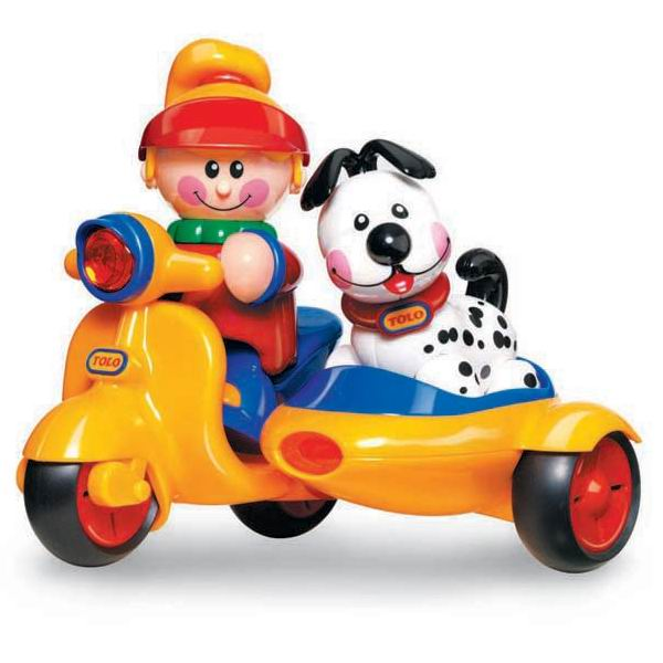 Развивающие игрушки Tolo Toys Мопед с коляской игровые наборы tolo toys набор полярные сани
