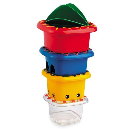 Игрушки для ванны Tolo Toys Набор ведерок (квадратные) набор развивающий tolo toys динозавры