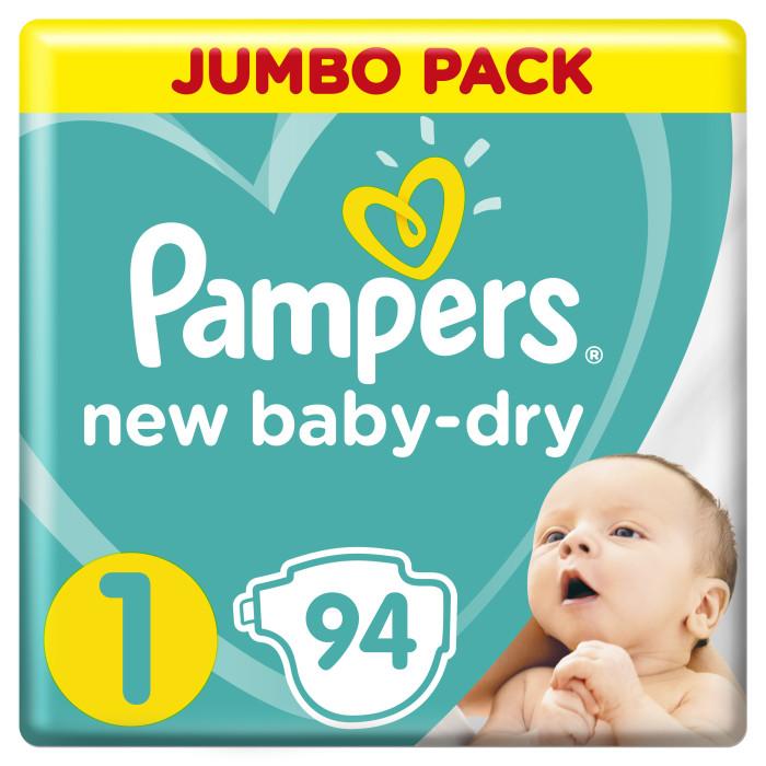 Подгузники Pampers Подгузники New Baby-Dry р.1 (2-5 кг) 94 шт. подгузники pampers active baby dry 5 11 18 кг 111 шт
