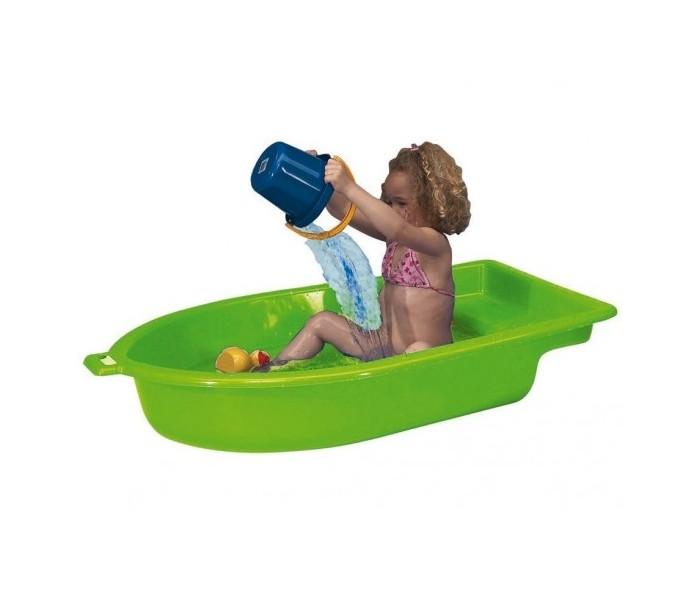 Paradiso Песочница Лодка одинарнаяПесочница Лодка одинарнаяПесочница-бассейн Лодка одинарная Paradiso  В песочнице-бассейне удобно купаться, пускать кораблики, строить замки из песка, делать куличи и даже катать ребенка по воде. На скамеечке на корме поместятся двое детей сразу. Качественный прочный пластик защищает лодку от воздействия ультрафиолетовых лучей и выгорания. Если же приобрести 2 таких песочницы, то поставив одну часть на другую, внутри образуется герметично-закрытое пространство, куда не проникнет вода и грязь. В дождливую погоду в песочницу можно спрятать игрушки, а песок останется сухим.   Особенности: Выполнена в виде лодочки Рельефные стенки и дно, отсутствие острых углов Широкое сидение-выступ в задней части песочницы-бассейна Высота бортика 22 см Может вместить несколько детей одновременно  Удобная ручка-прорезь  Игровые возможности: Подходит для использования не только на улице, но и дома В песочницу-бассейн можно как наливать воду, так и насыпать песочек В лодочке можно катать ребенка по воде, держа ее за ручку На широкой скамеечке можно также раскладывать игрушки и строить куличики<br>