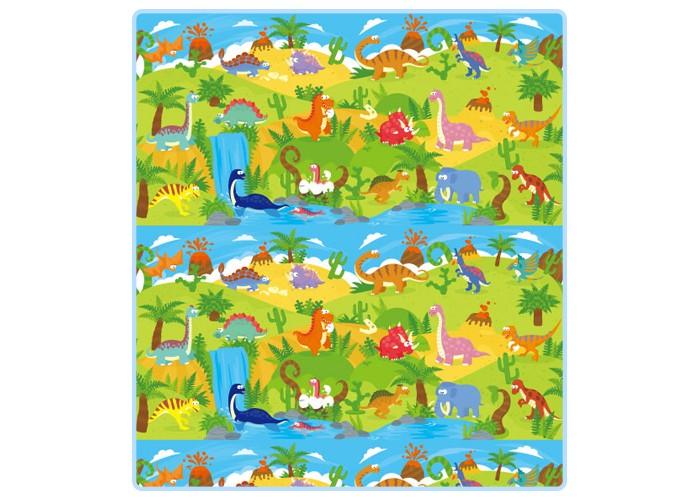 Развивающий коврик Mambobaby Динозавры односторонний 200 х 180 х 0,5 смДинозавры односторонний 200 х 180 х 0,5 смMambobaby Детский развивающий коврик Динозавры односторонний - это отличное дополнение для покрытия в детской комнате для игры и развития вашего ребенка. На нем можно ползать, прыгать, строить сооружения. Легко застелить любую площадь и организовать для ребенка интересное, яркое, комфортное и безопасное пространство.  Особенности: Изготовлен из безопасных материалов, не выделяющих токсинов и не имеющих запаха  Непромокаемый, теплоизолирующий, бесшовный, больших размеров, с богатой палитрой цветов Стимулирует развитие детского зрения и интеллекта Суперлегкий, сворачивающийся, удобный в переноске, безопасный и комфортный  Это идеальная площадка для ползания, игр и развития Вашего малыша  Способы применения: для ползания, игр, защиты от влажности, использования в качестве подстилки на природе, на пикнике, на рыбалке и т.д.    Размер:  200 х 180 х 0,5 см<br>