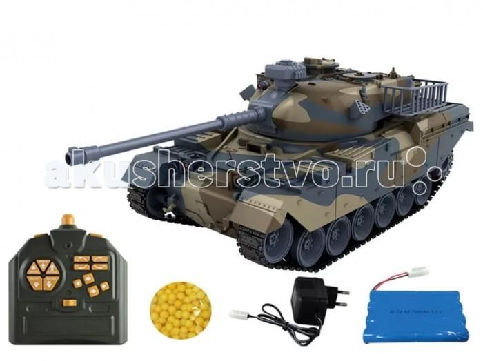 Pilotage Радиоуправляемый танк 1:18 US M60 стреляющий шарикамиРадиоуправляемый танк 1:18 US M60 стреляющий шарикамиPilotage Радиоуправляемый танк 1:18 US M60 стреляющий шариками выполнена с высочайшей степенью копийности. В этой модели скрупулезно сымитированы все детали, начиная от структуры литья брони и заканчивая отличительными знаками.  Модель способна повторять все движения прототипа, вплоть до поворота башни на 350 градусов и изменения угла установки ствола главного орудия. Копия этого танка стреляет пластмассовыми шариками типа ВВ (6мм), выталкиваемыми сжатым воздухом на 12 метров с силой выстрела 0,02 Дж. Боекомплект составляет около 20 снарядов. При желании вы можете отключить функцию стрельбы шариками, при помощи выключателя, который рассоложен под крышкой люка, и тогда, во время выстрела будут работают только световые и звуковые эффекты.  Танк имеет три скорости движения вперед: 8, 10 и 12 км/ч, и функцию заднего хода. Имитация торсионной подвески поддерживающих катков позволяет модели преодолевать неровности ландшафта и взбираться на подъемы крутизной до 45 градусов.   Эта модель для настоящих ценителей бронированной мощи. Радиус действия передатчика 20-25 м етров. Танк работает от  Ni Cd 700 мАч 9,6В аккумулятора в течении 20 -25 минут, после чего понадобиться зарядка, которая длиться примерно 4 часа.  Танк прекрасно смотрится как копия, но в отличие от статичных стендовых моделей, на этой модели можно преодолевать препятствия на импровизированном «танкодроме», построенном из книг и различных коробок, отрабатывать точность стрельбы или устроить с друзьями танковый биатлон!<br>
